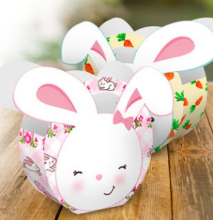 Easter Bunny: Free Printable Basquets.
