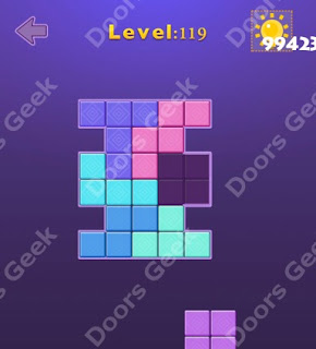 Cheats, Solutions, Walkthrough for Move Blocks Easy Level 119