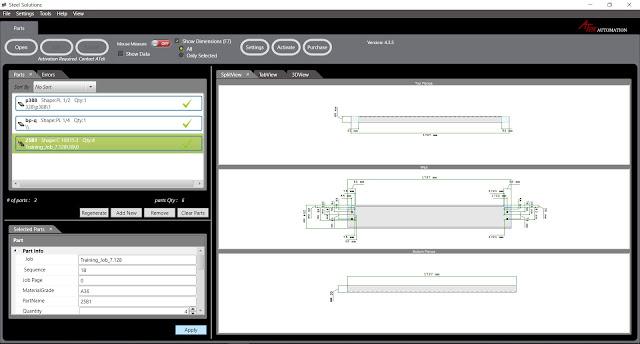 DSTV Viewer - автоматическое проставление размеров