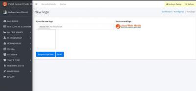 Web Company Profile - Pengaturan Logo