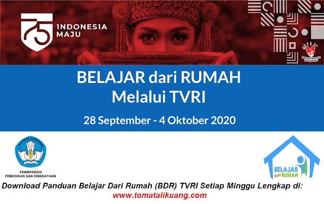 panduan belajar dari rumah bdr tvri 28 29 30 september 1 2 3 4 oktober 2020 pdf tomatalikuang.com