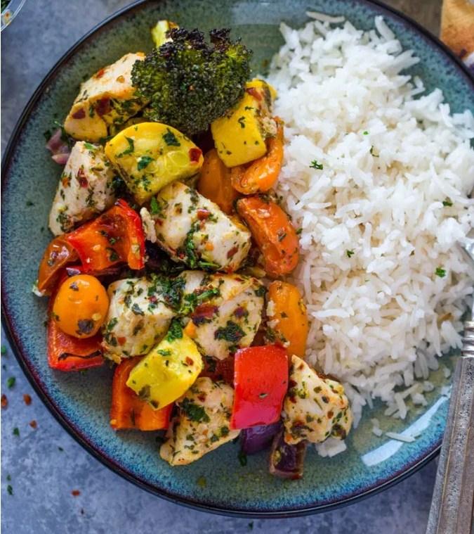 Roasted Garlic & Herb Chicken and Veggies
