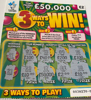 £2 Win On A 3 Ways To Win Scratchcard