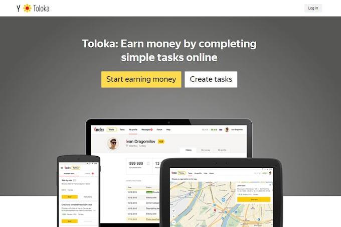Toloka Yandex-Earn money online by completing simple tasks