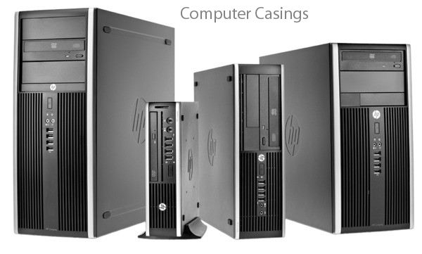 A Computer Case also known as computer chassis, box, tower, enclosure, Housing, system unit or simply case is the enclosure that contains most of the components of computer system. Cases are usually constructed from steel or aluminum. Plastic and other materials such as wood or Lego are also used.