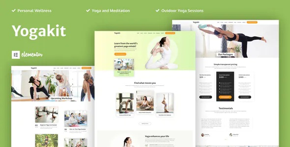 Best Yoga & Meditation Elementor Template Kit