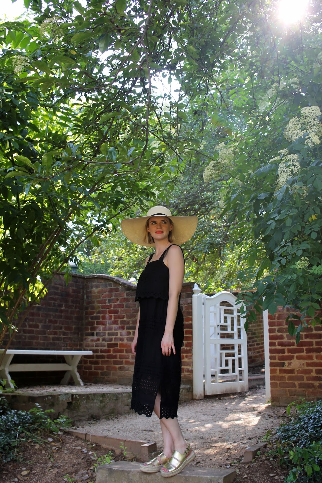 j.crew sundress & cuyana sun hat