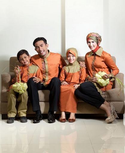 Contoh Model baju gamis Couple Family Terbaru 2018