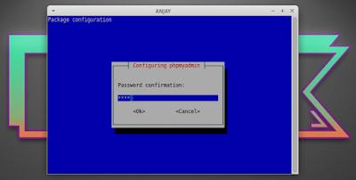 masukkan kembali password root