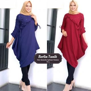 Jual Baju Atasan Muslim Wanita Berlin Tunik
