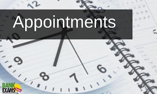 Appointments on 1st July 2021