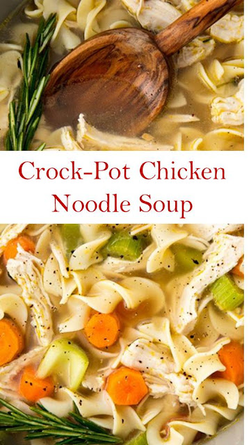 easy crockpot chicken noodle soup recipe  risma news