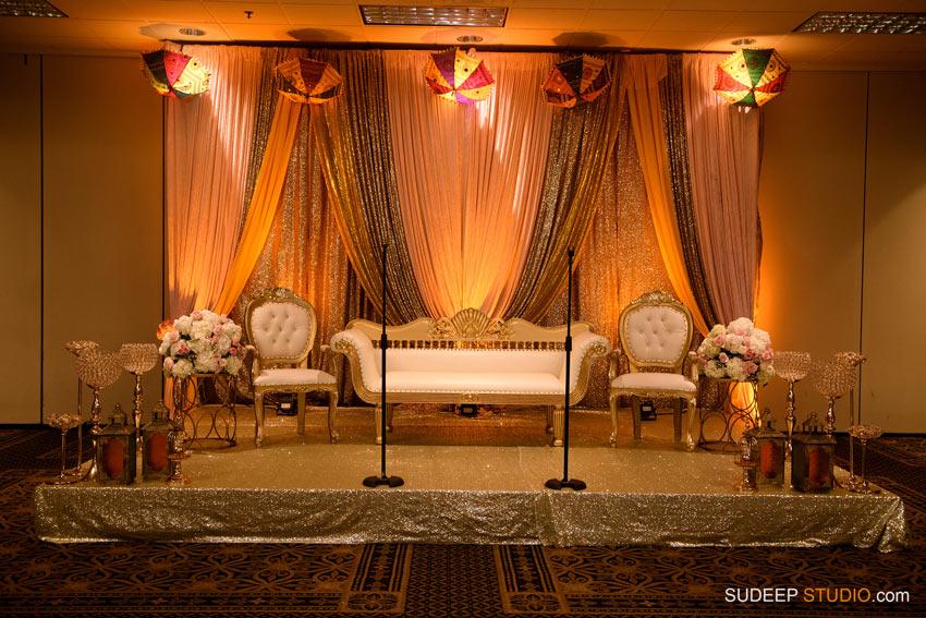 Stage Decoration for Pakistani Wedding Shaadi Mehendi Photography by SudeepStudio.com Ann Arbor South Asian Muslim Wedding Photographer