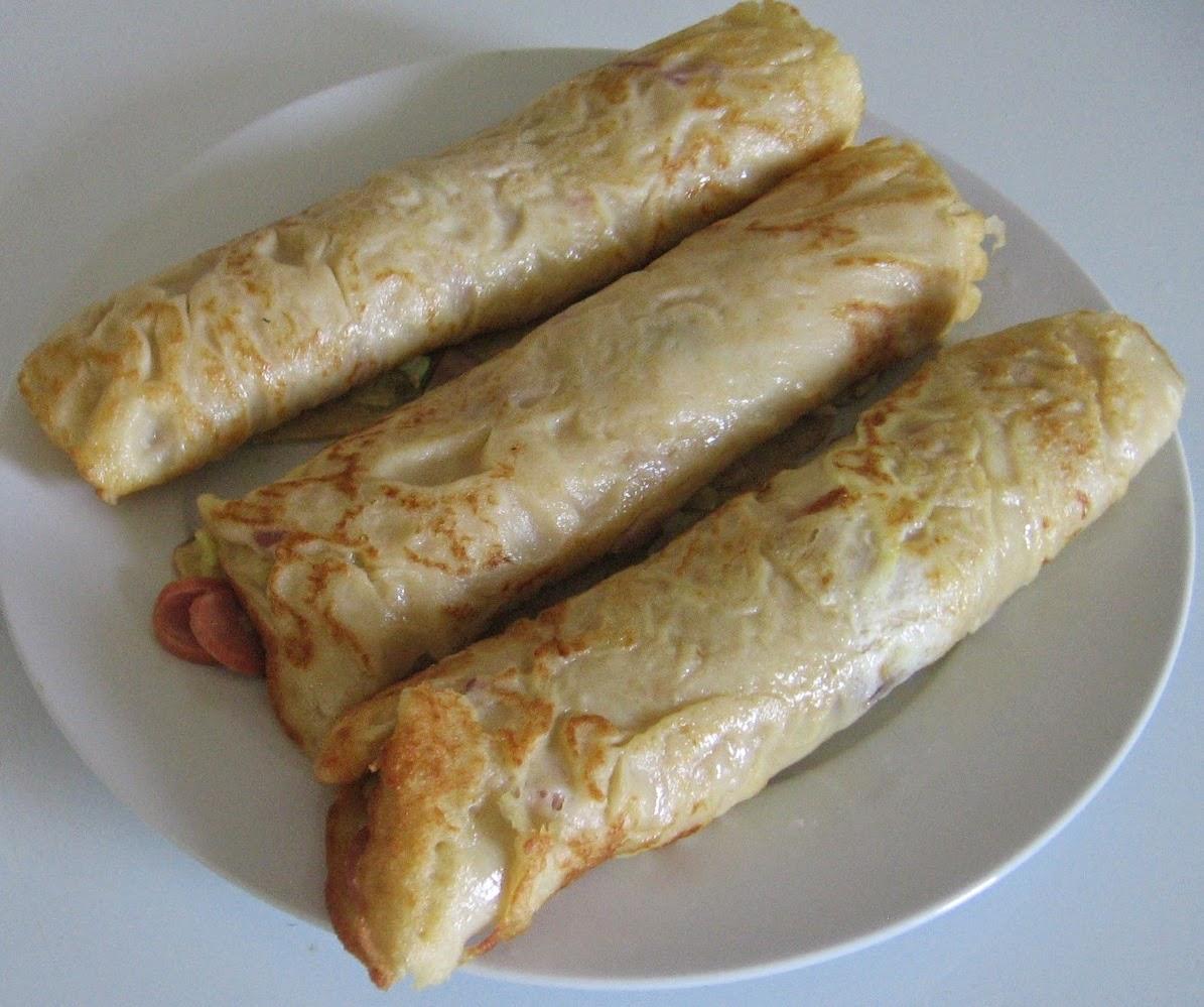 how to make pancake rolls