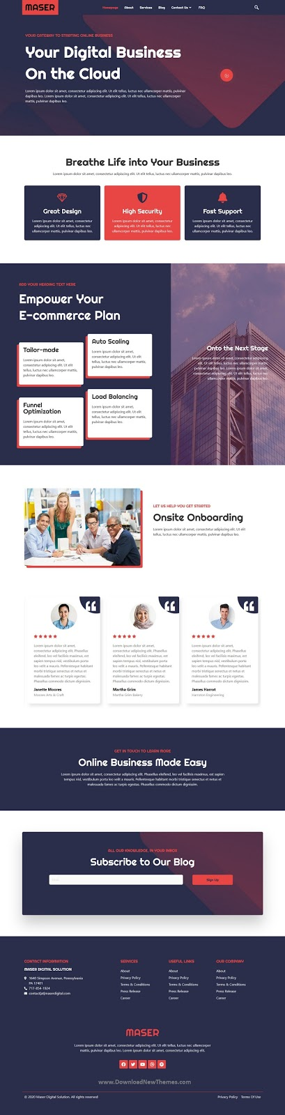 Best Web Design Agency Website Template