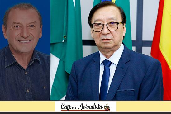 O ex-vereador John Alves e o presidente da Câmara, Mário Hossokawa