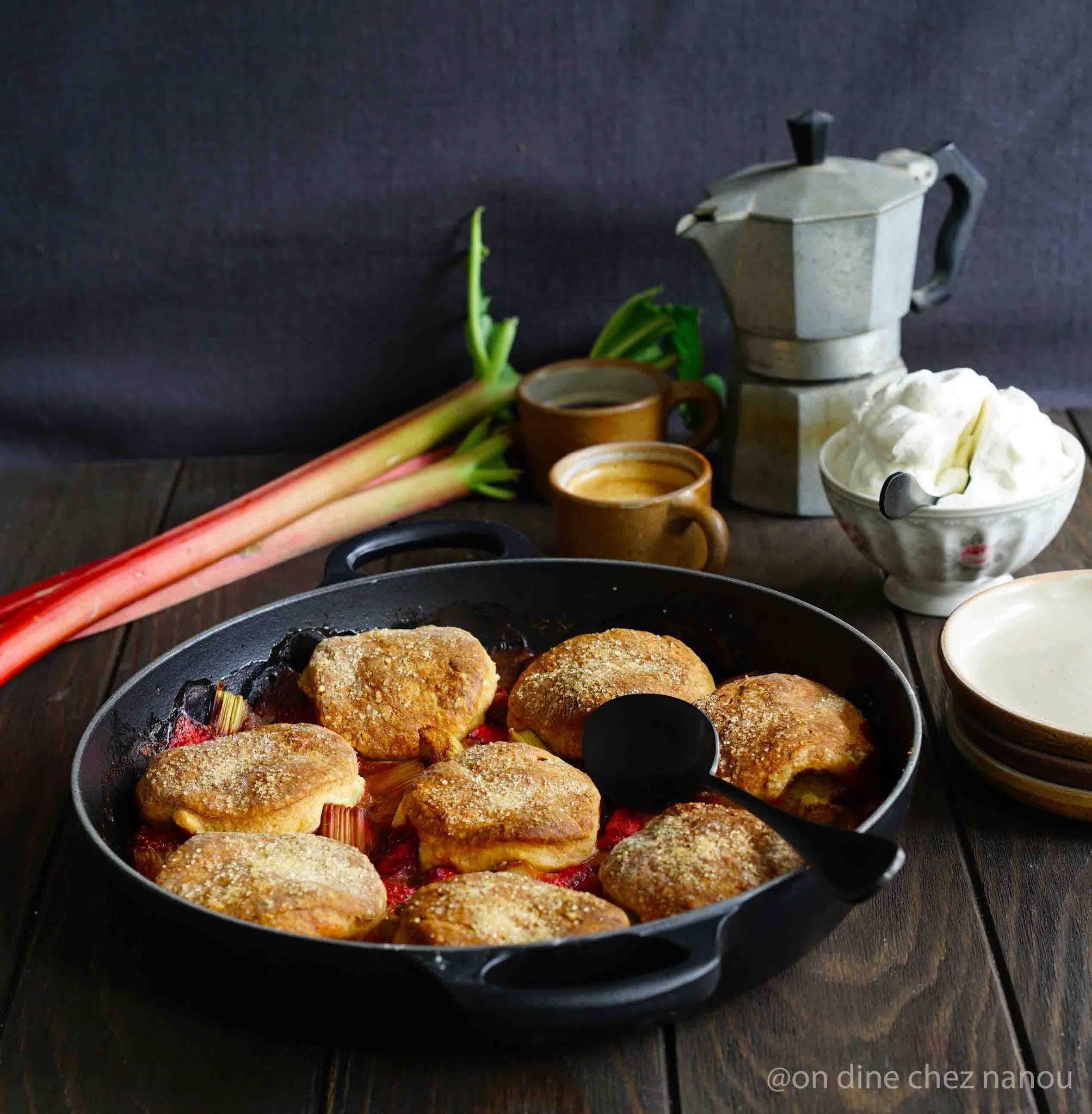 dessert anglo saxon , rhubarbe , lait ribot , lait fermenté ,