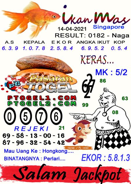 Syair Ikan Mas SGP Rabu 14-Apr-2021