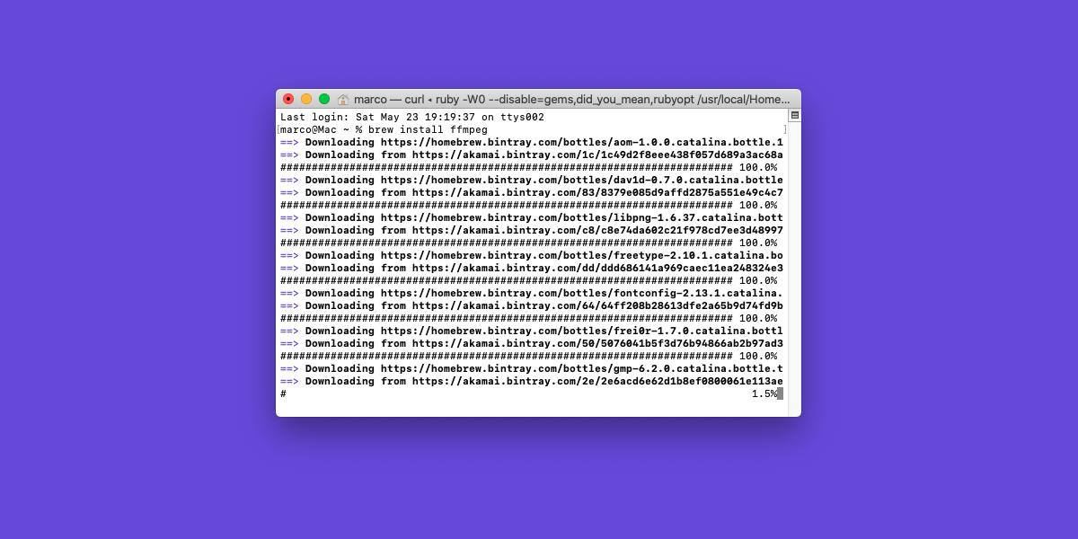 Come installare ffmpeg su macOS