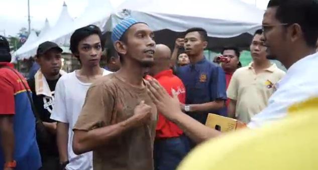 Lelaki mengaku imam mengamuk halau orang di bazar Ramadan Kluang