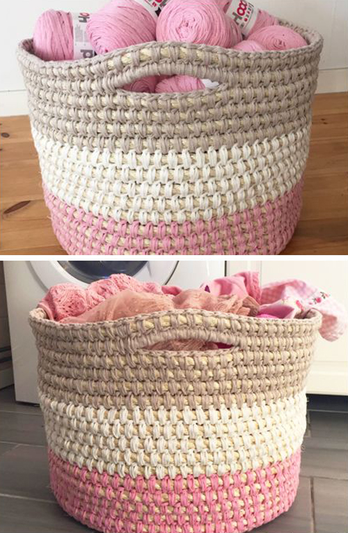 Crochet Storage Basket - Free Pattern
