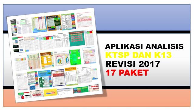 Aplikasi Analisis Ulangan Harian K13 Revisi 2017 dan KTSP