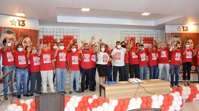 PT oficializa Lenildo Morais como candidato a prefeito com apoio do PDT, MDB, AVANTE, PSOL, PMN e UP
