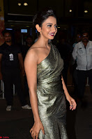 Rakul Preet Singh in Shining Glittering Golden Half Shoulder Gown at 64th Jio Filmfare Awards South ~  Exclusive 003.JPG