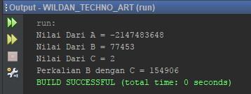 Contoh Penggunaan Tipe Data Int pada Java