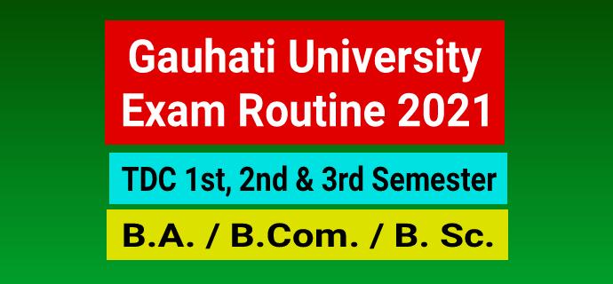 GU Exam Routine 2021