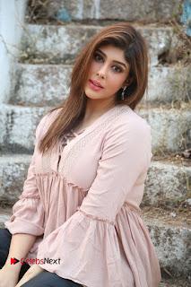 Telugu Actress Aditi Singh Stills in Leather Pants at Nenu Kidnap Iyanu Movie Press Meet  0160.JPG