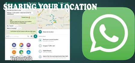 Sharing your location is easy from WhatsApp. You tap on the paper clip after which you can choose