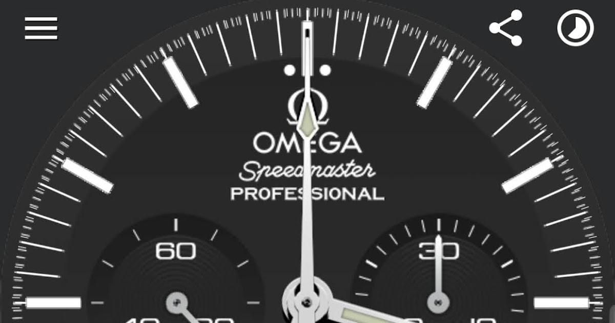 Omega Speedmaster Professional Moonwatch Watch Face for Tizen and Wear OS