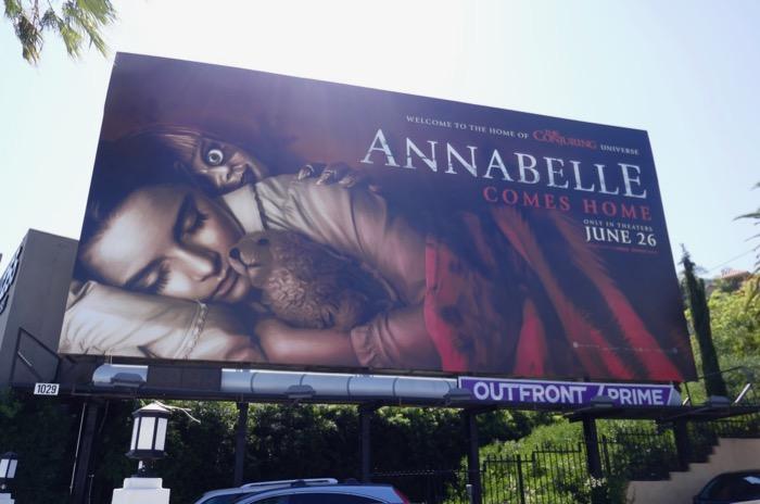 Annabelle Comes Home film billboard
