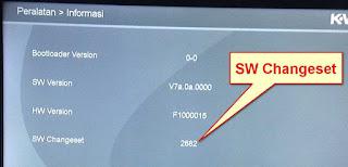 Versi SW Changeset K-Vision Bromo