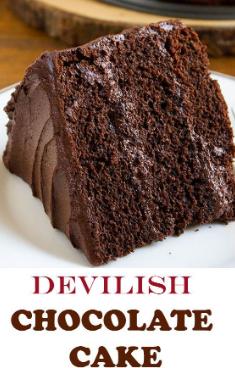Devilish Chocolate Cake Choco Diavolo