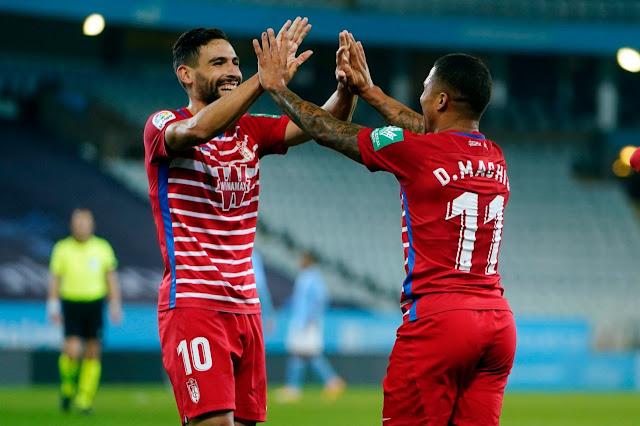 Yangel Herrera y Darwin Machís protagonistas en la clasificación histórica del Granada FC a UEFA Europa League.