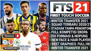 Download FTS 21 Full Eropa Best Graphics HD Season Update Kits & Winter Transfers 2020-2021