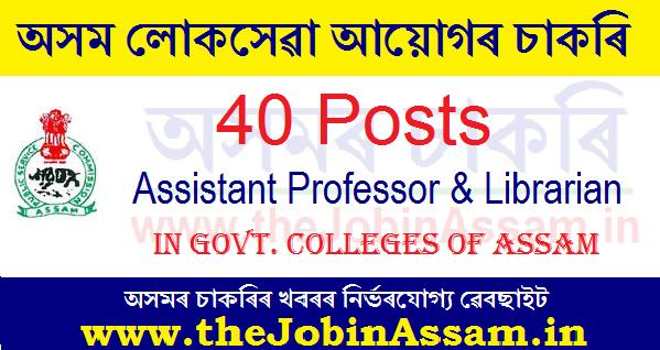 Assam Public Service Commission Recruitment 2020