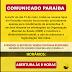 Comunicado Paraíba, todas as lojas de Parnaíba estarão funcionando parcialmente para recebimento de prestações.