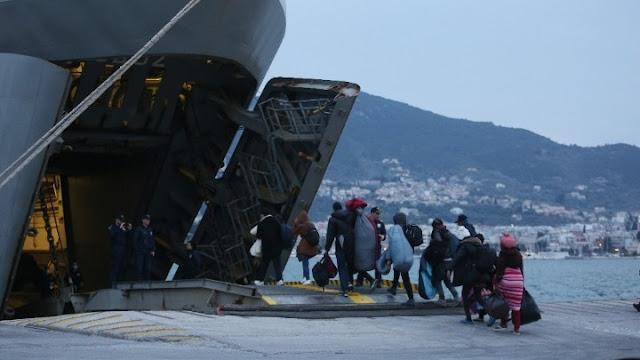 Αναχώρησαν χθες από τα νησιά του Αν. Αιγαίου περισσότεροι από 1.000 πρόσφυγες