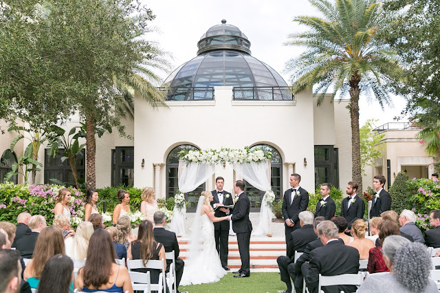 wedding ceremony at the alfond inn winter park