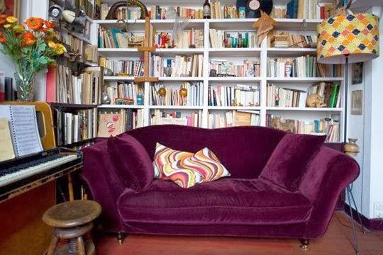 sofa de tercioeplo burdeos