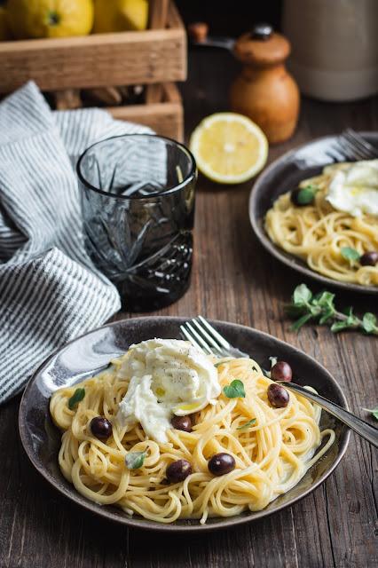One pot pasta au citron et à l'ail