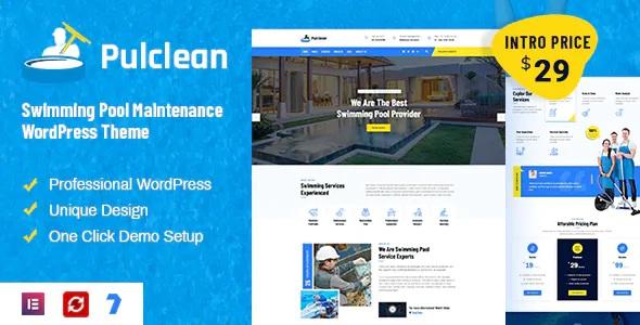 Best Swimming Pool Maintenance WordPress Theme