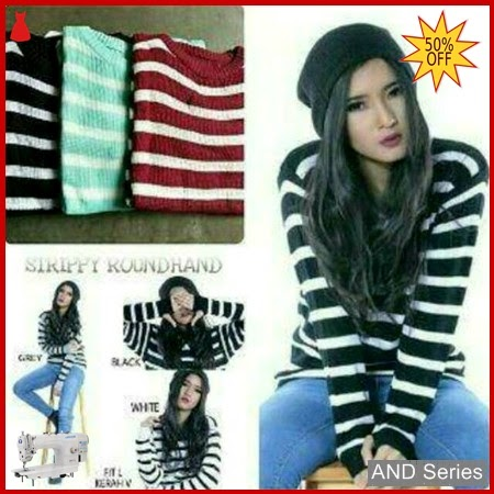 AND037 Sweater Wanita Strippy Roundhand Secker BMGShop