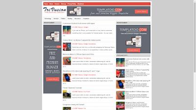 TriVusion Blogger Templates Simple SEO dan Keren Banget