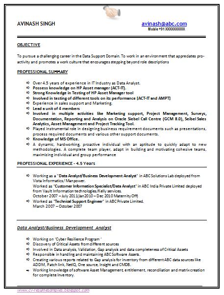 Dot Net Resumes 8 Years Experience. dot net resume 7 years ...