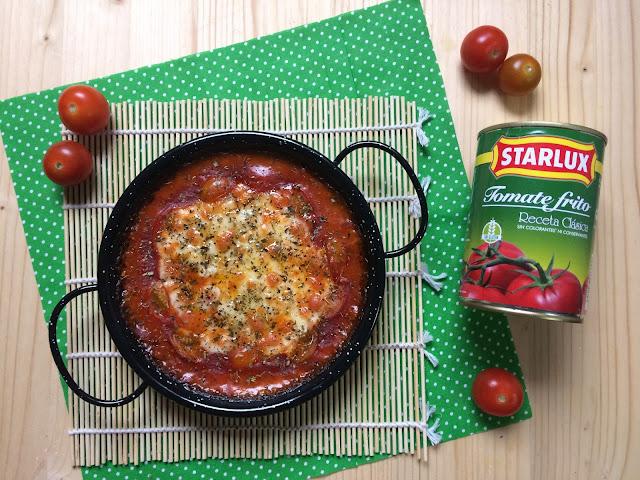 provlone al horno con tomate frito receta