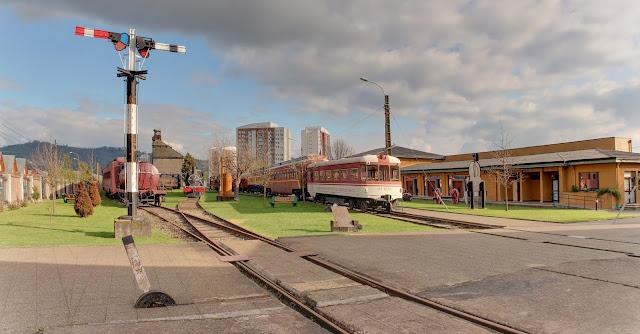 Museo Nacional Ferroviário Pablo Neruda em Temuco, no Chile